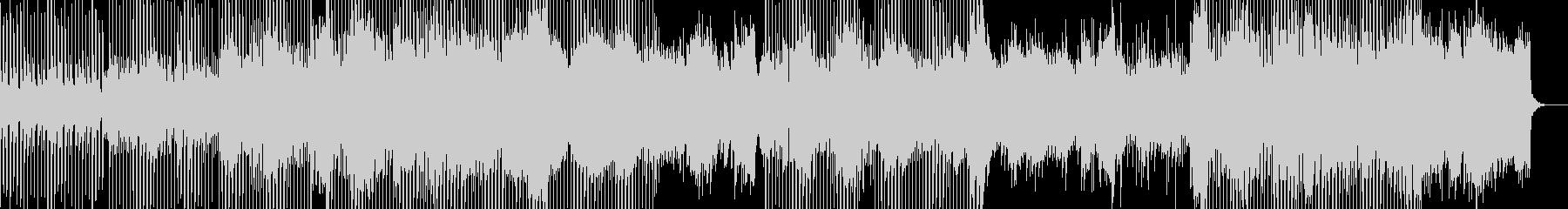 軽快なピアノハウスサウンドの未再生の波形