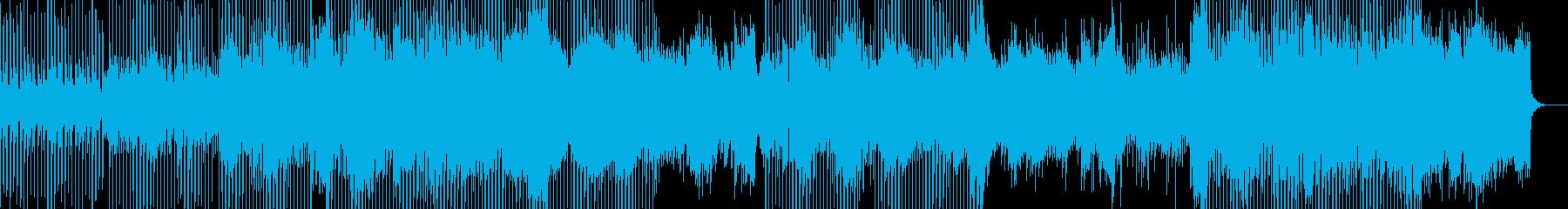 軽快なピアノハウスサウンドの再生済みの波形