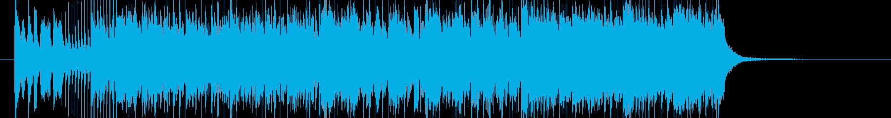 不思議な始まり方のレース曲の再生済みの波形