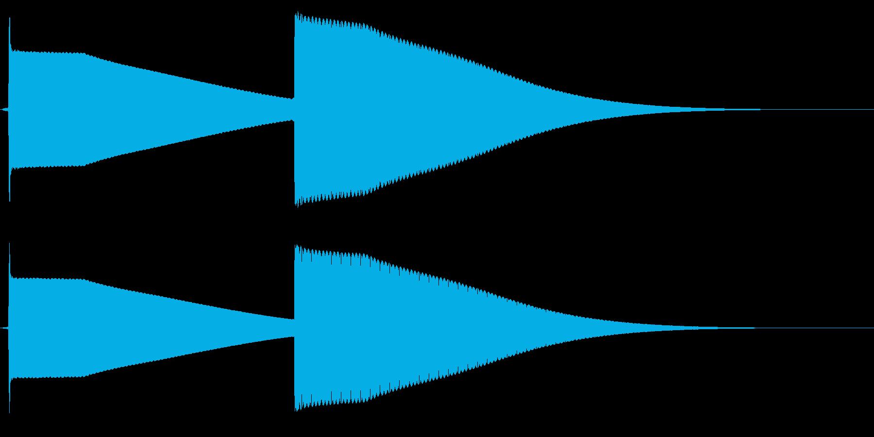 よく有るドアホンの音。シンセで一から音…の再生済みの波形