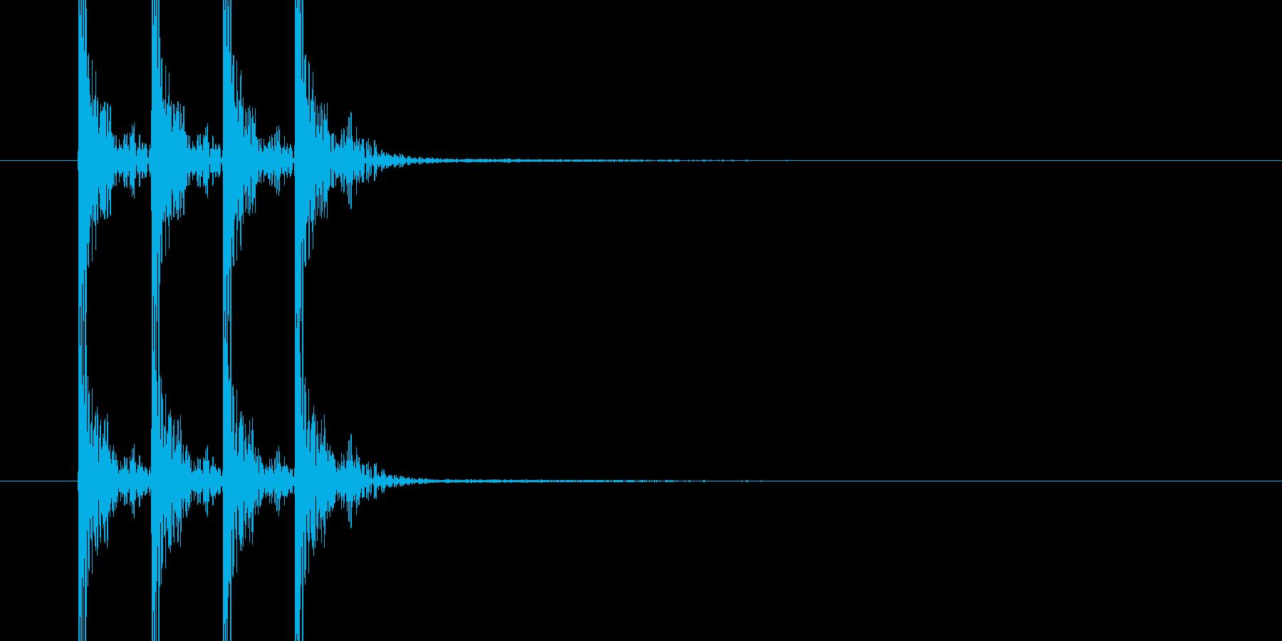ドンドンドン(木のドアをノックする音)の再生済みの波形
