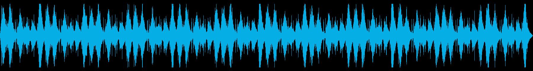 神聖、水、青を想起させるテクスチャーの再生済みの波形
