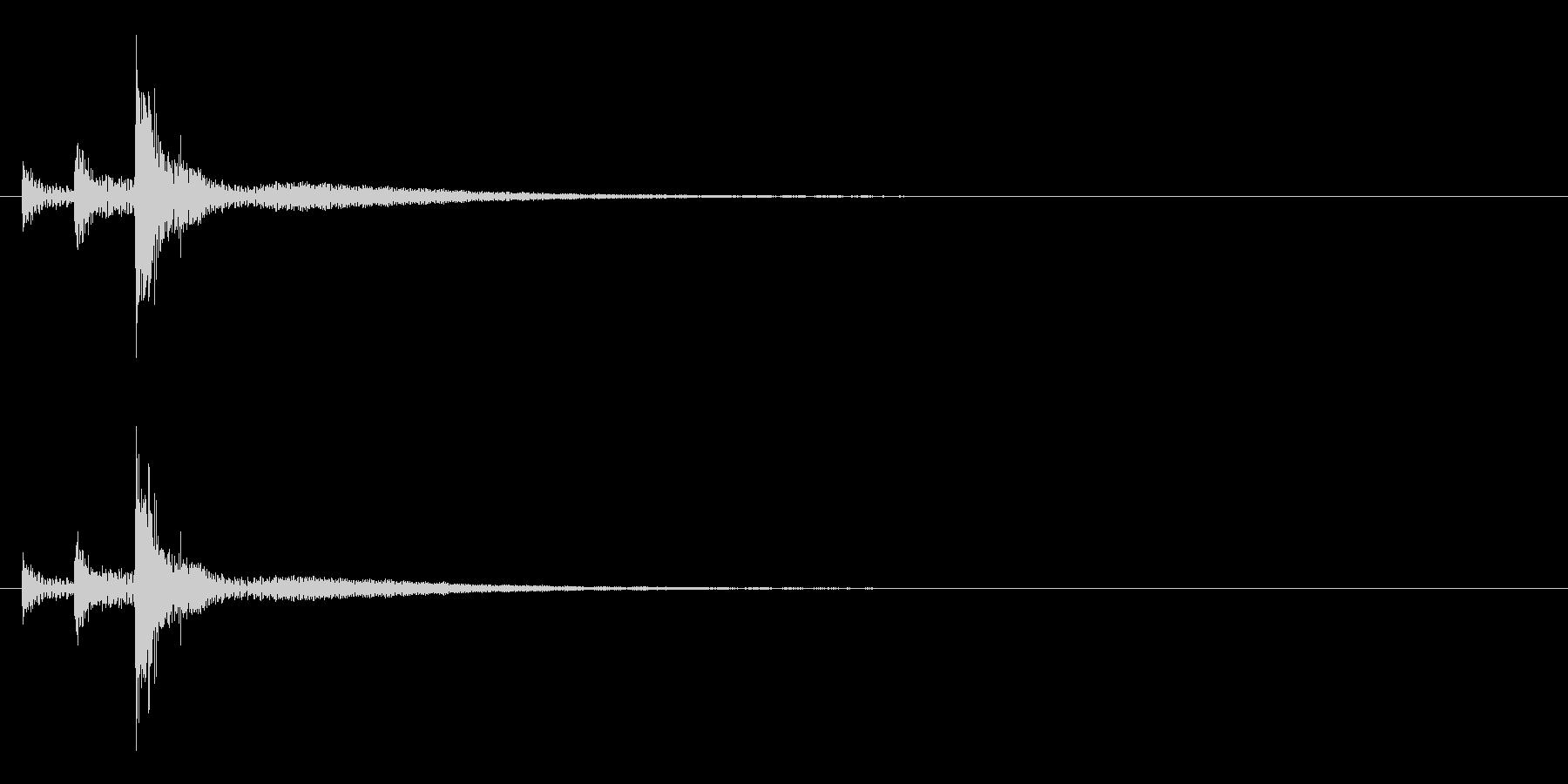 「トトトン」うちわ太皷の単発音+Fxの未再生の波形