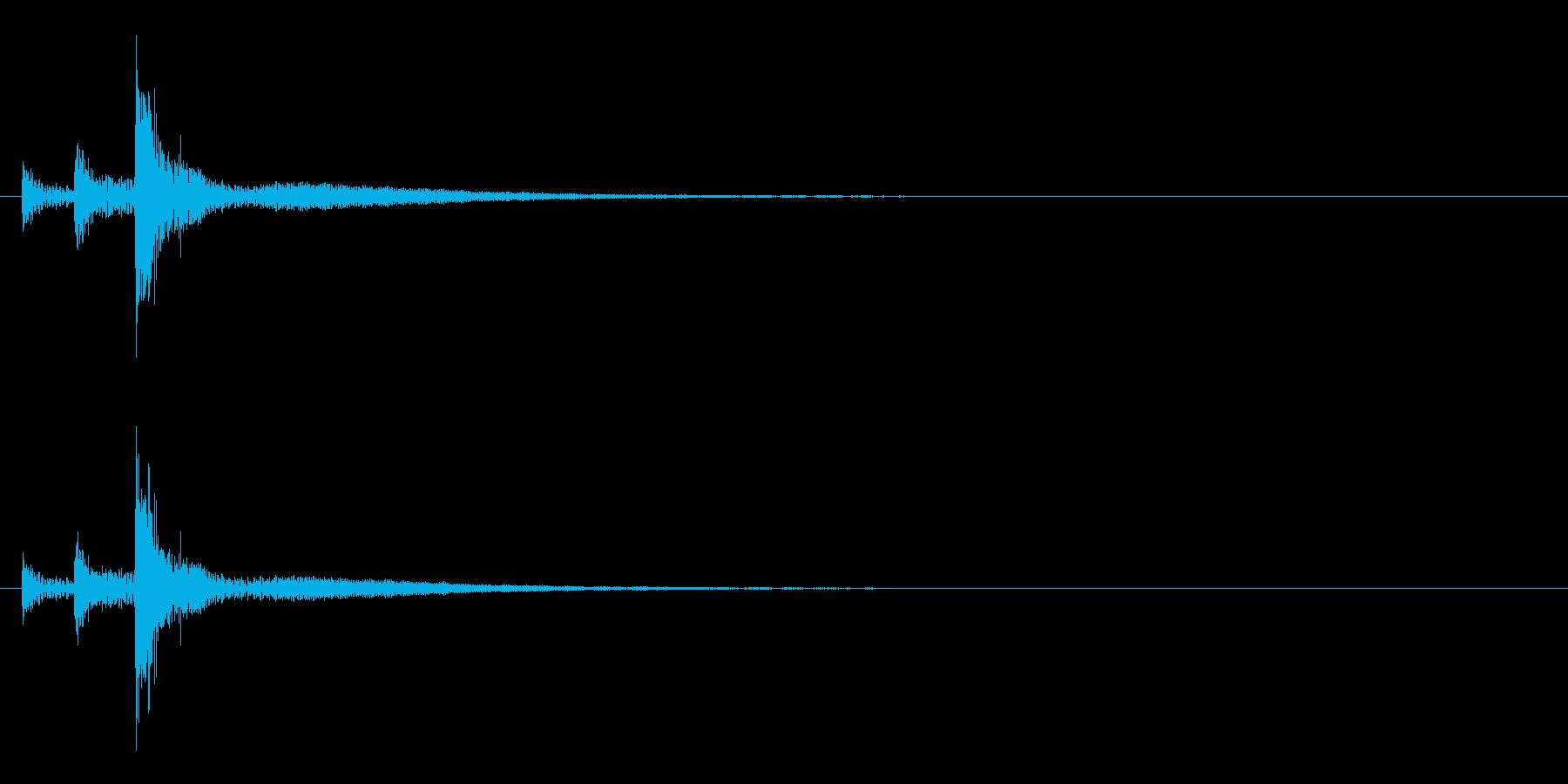 「トトトン」うちわ太皷の単発音+Fxの再生済みの波形