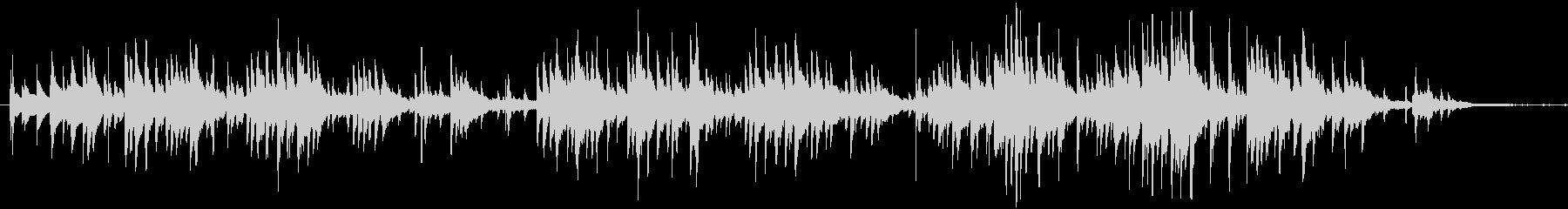 ガットギターによる温かいアンサンブルの未再生の波形