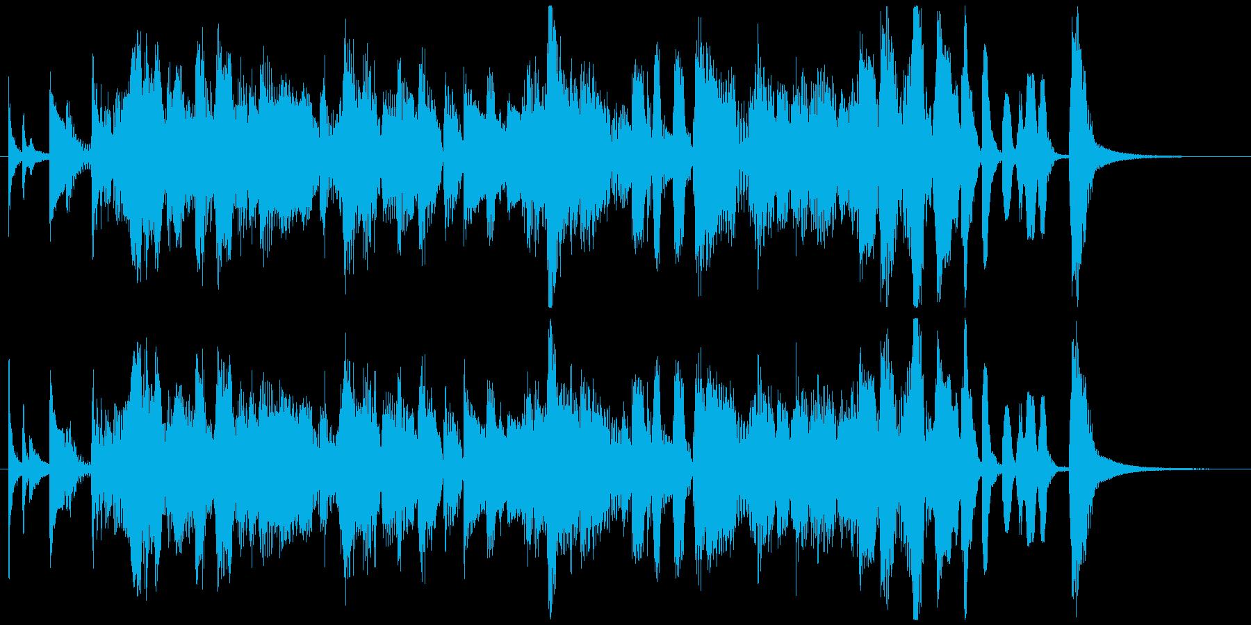 ノリの良いジャズブルースのジングルの再生済みの波形