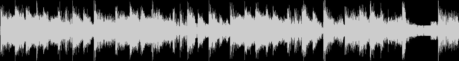 攻撃的なビートの効いたジングル_ループの未再生の波形