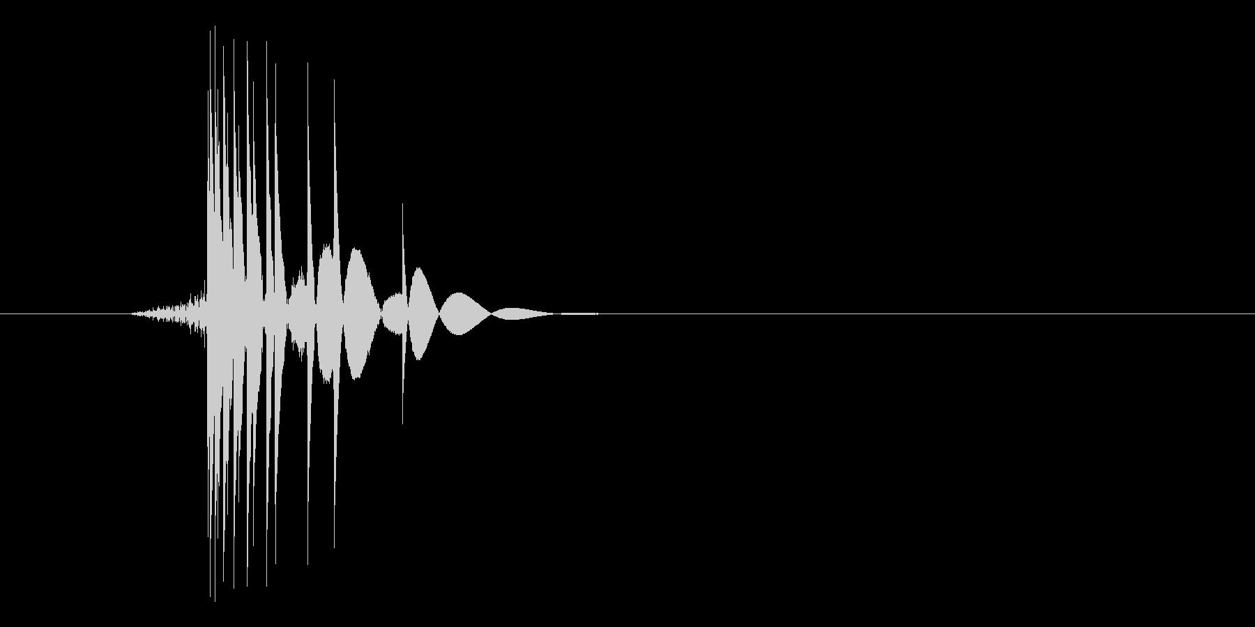 ゲーム(ファミコン風)ヒット音_003の未再生の波形