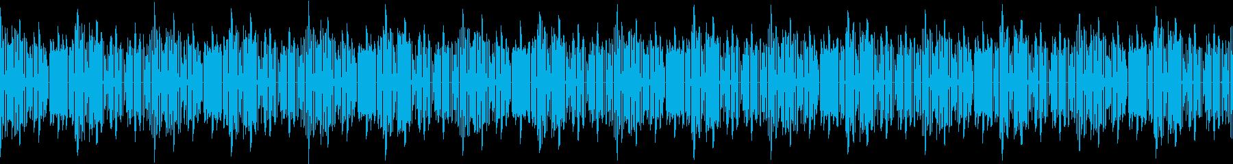 和風なファミコン風ゲームBGMの再生済みの波形