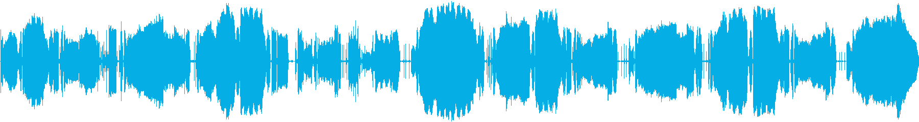 ラジオチューニング風(宇宙交信?)の再生済みの波形