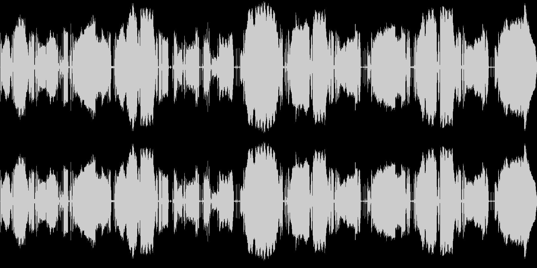 ラジオチューニング風(宇宙交信?)の未再生の波形