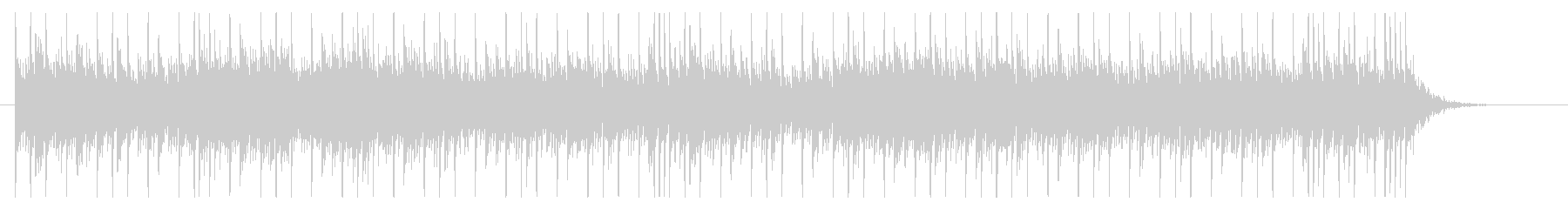 Glittering and mysterious and mysterious BGM's unreproduced waveform