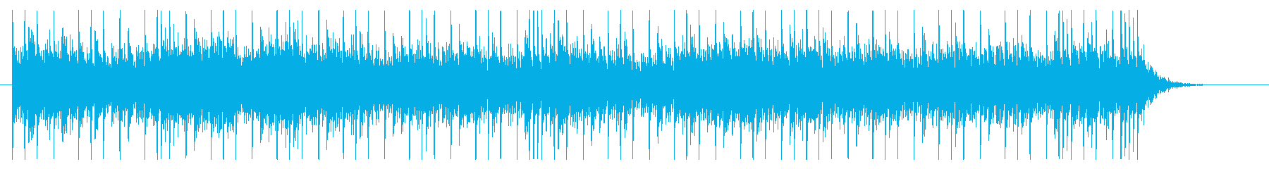 Glittering and mysterious and mysterious BGM's reproduced waveform