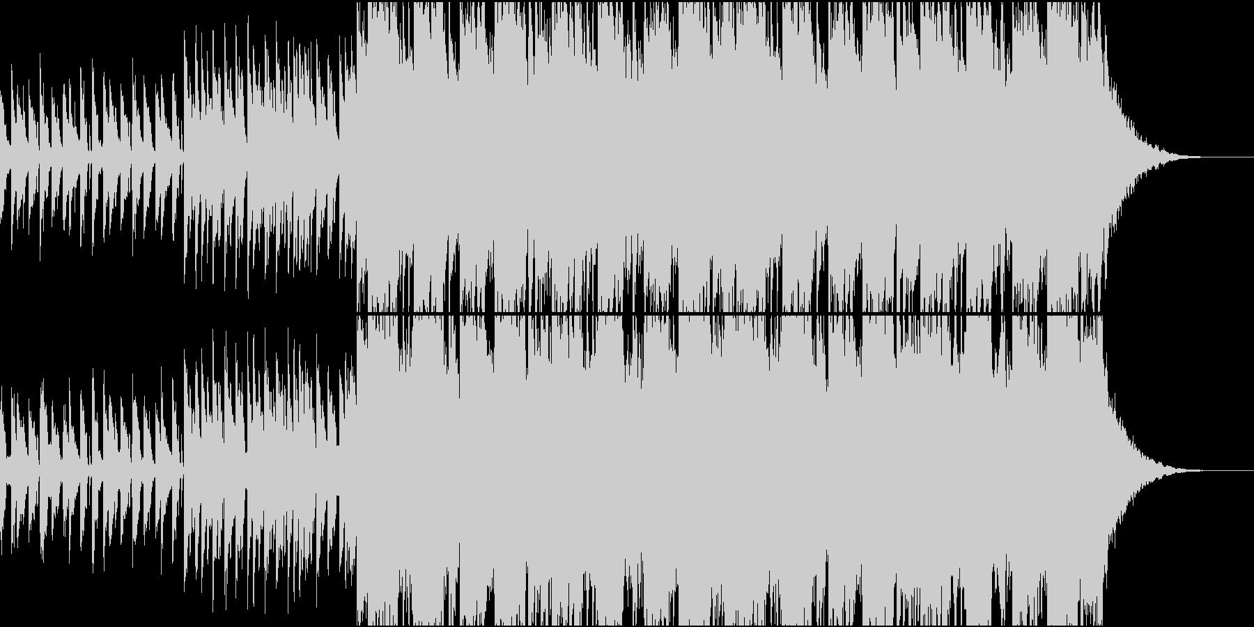 弾けるようなポップなFuturebassの未再生の波形