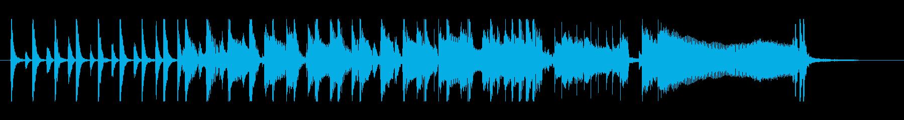 ギターブルースのエンディング【ジングル】の再生済みの波形