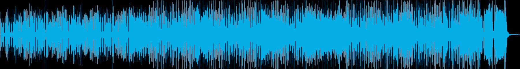 コミカルでレトロ感のあるトランペットの再生済みの波形