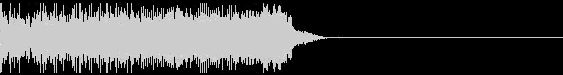 短いメタル系ジングルの未再生の波形