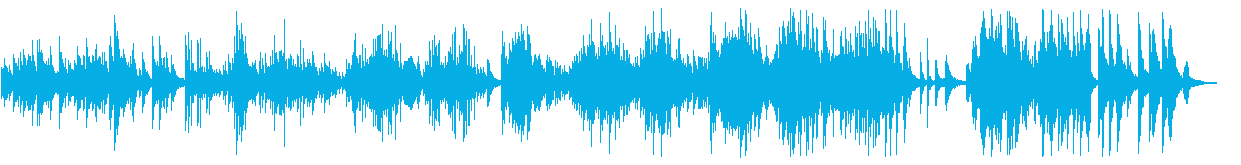 A spacious and moist piano BGM's reproduced waveform