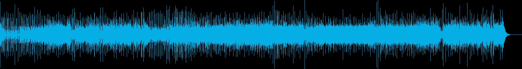 スピード感のあるフュージョンの再生済みの波形