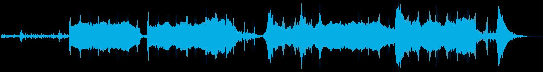 宇宙をイメージしたサウンドトラックの再生済みの波形