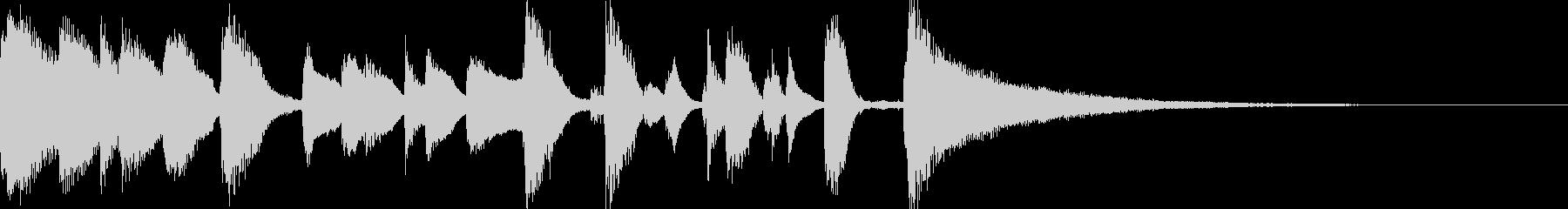 お洒落なジャズのジングル 4 の未再生の波形