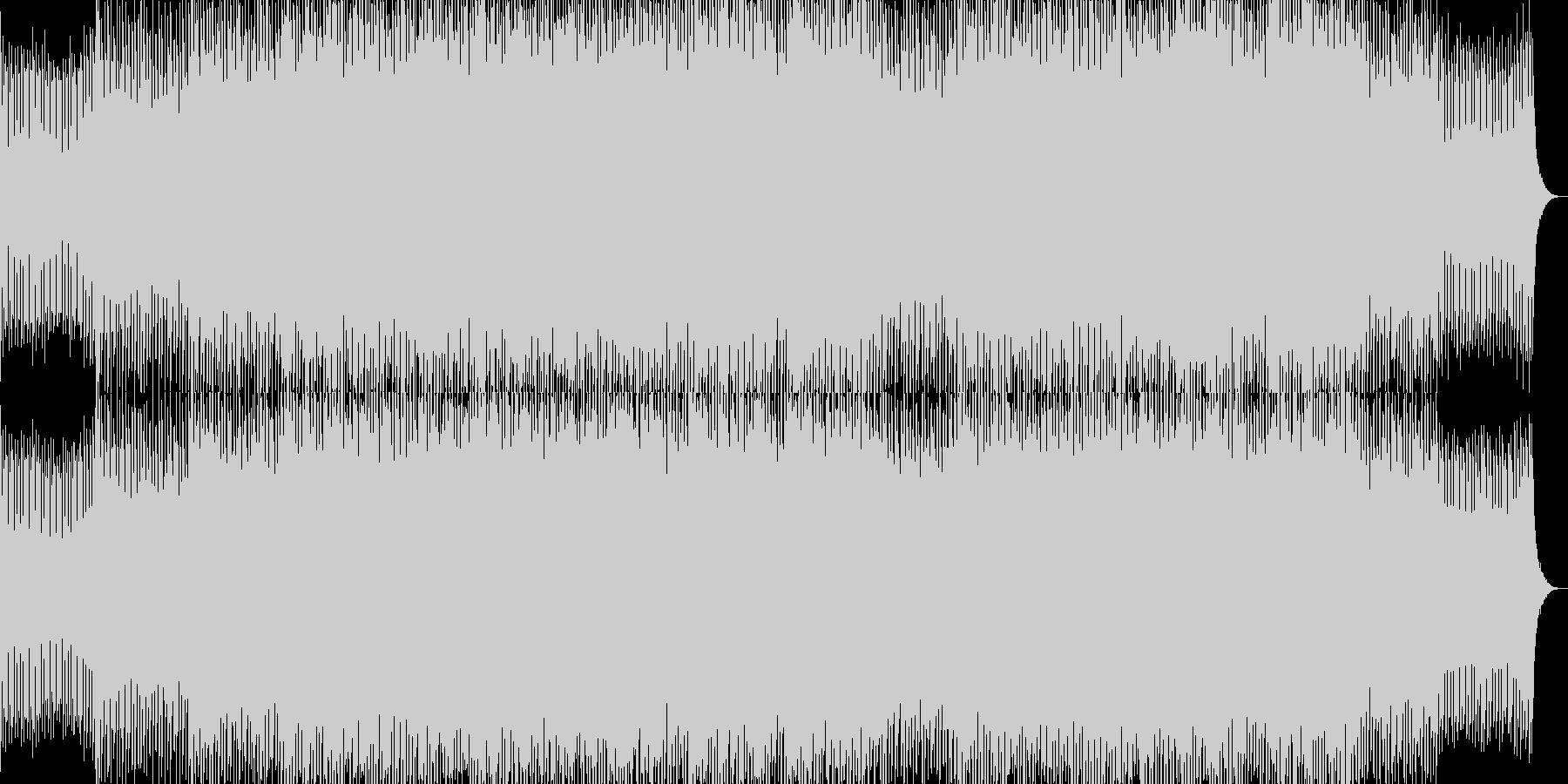 軽快でエネルギッシュなポップロックBGMの未再生の波形