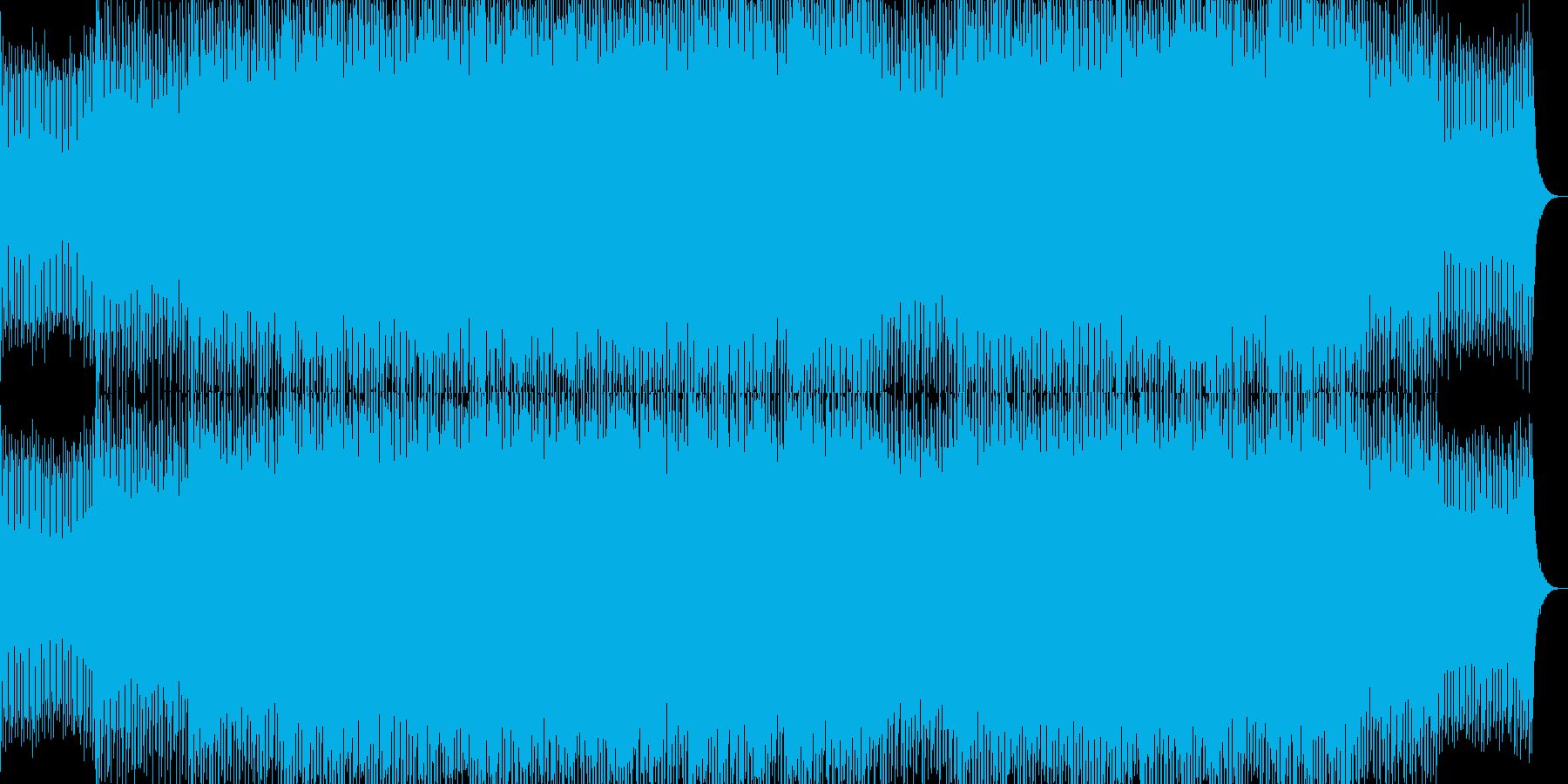 軽快でエネルギッシュなポップロックBGMの再生済みの波形
