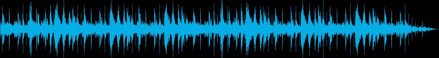 環境音楽的ヒーリング曲の再生済みの波形