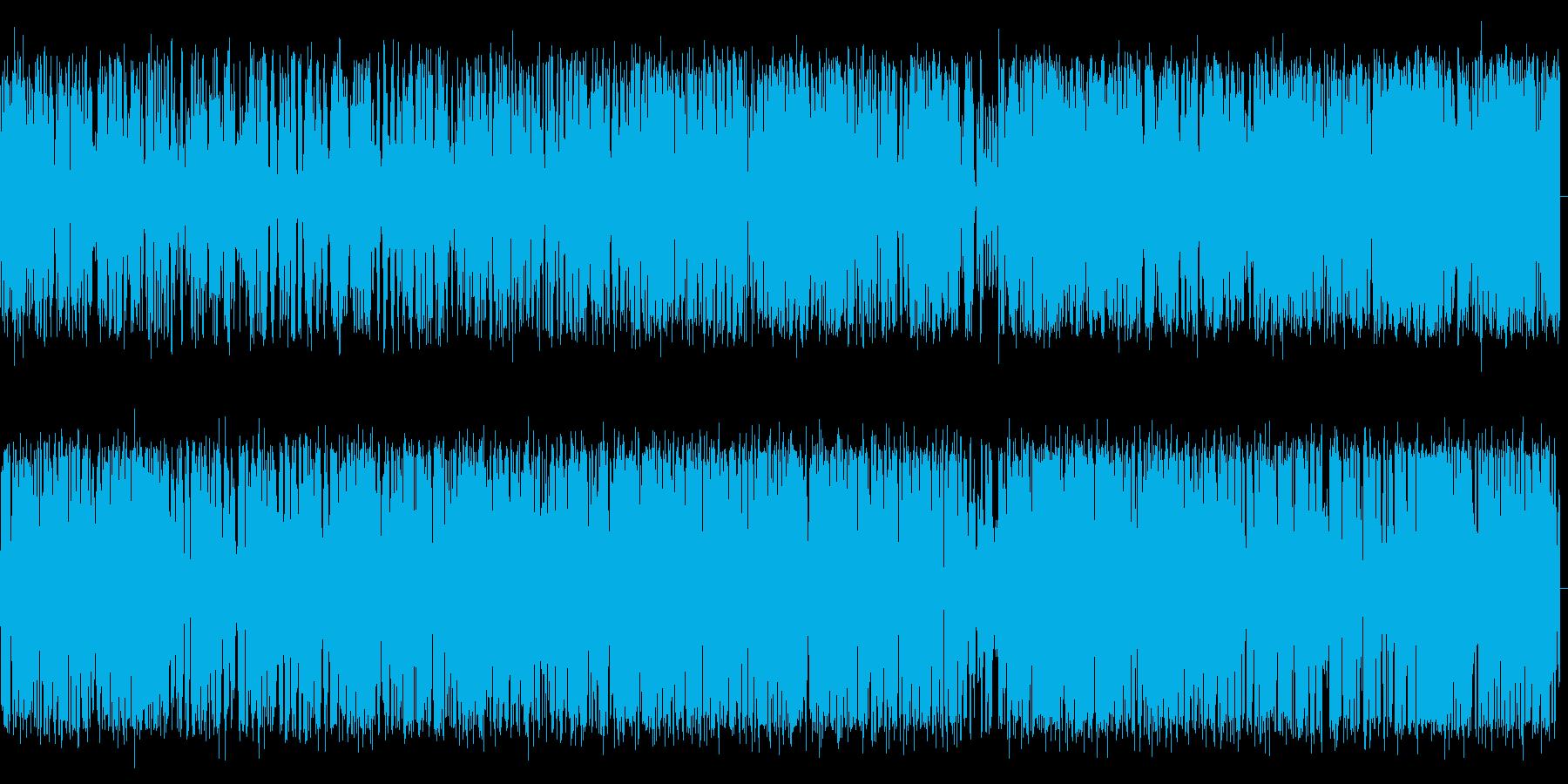 小型クルーズ船の風切り音の再生済みの波形
