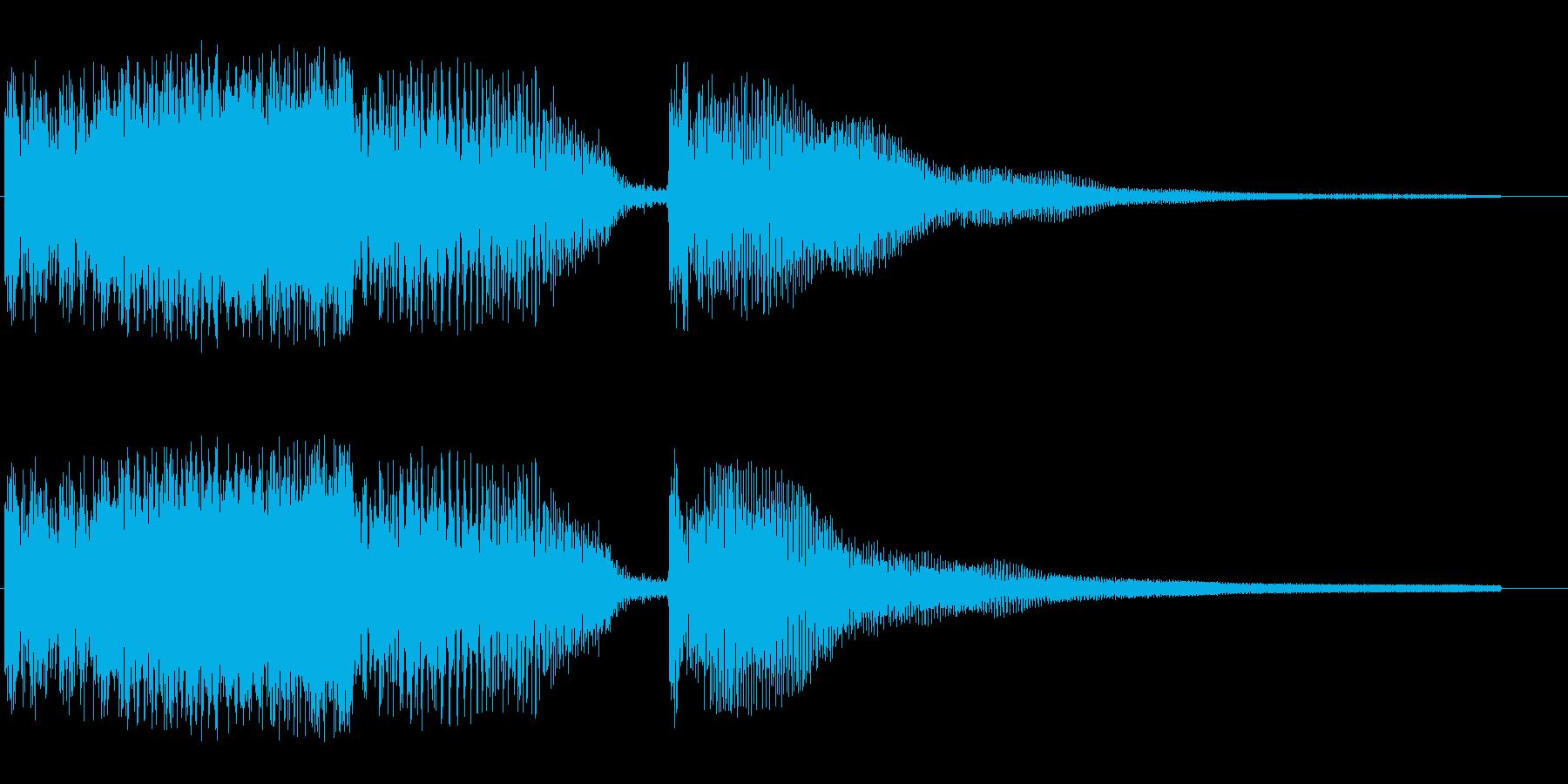 変身に失敗してしまった時の効果音の再生済みの波形