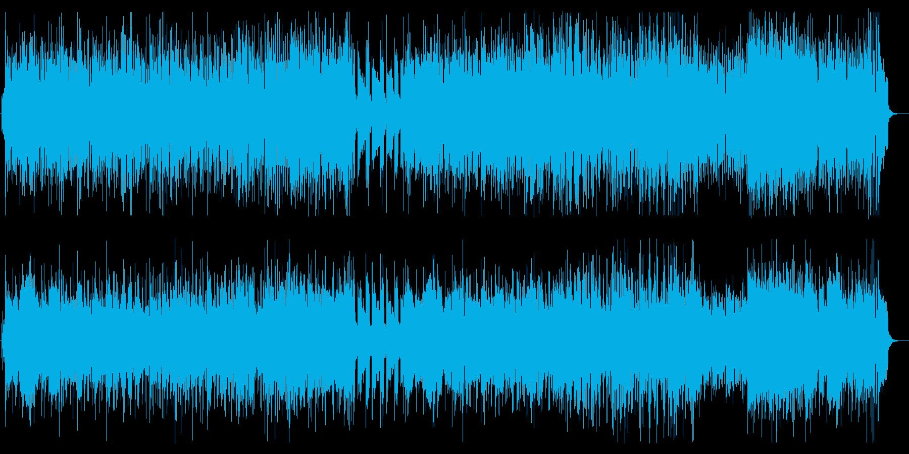 美しく軽快なポップミュージックの再生済みの波形