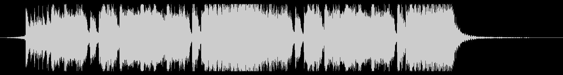 シンプルなメタル系のジングル3の未再生の波形