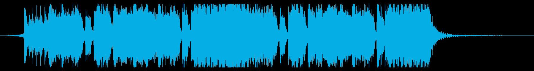 シンプルなメタル系のジングル3の再生済みの波形