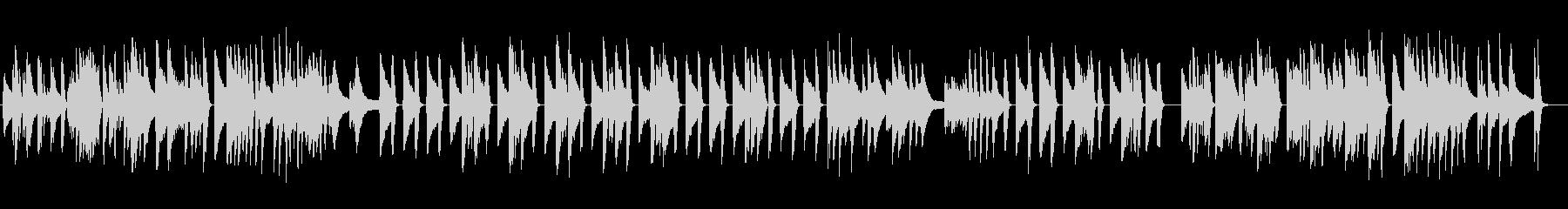 ジャズピアノソロ、動物の動画でほのぼのの未再生の波形