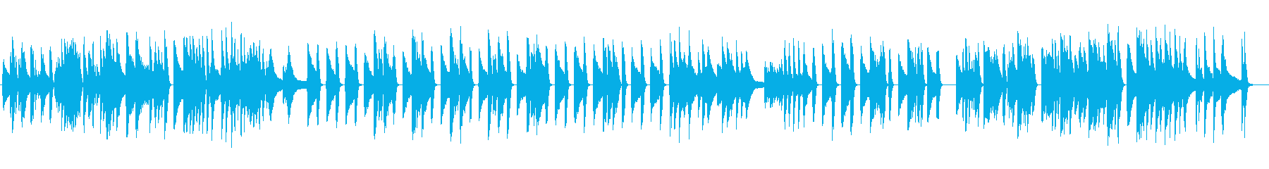 ジャズピアノソロ、動物の動画でほのぼのの再生済みの波形