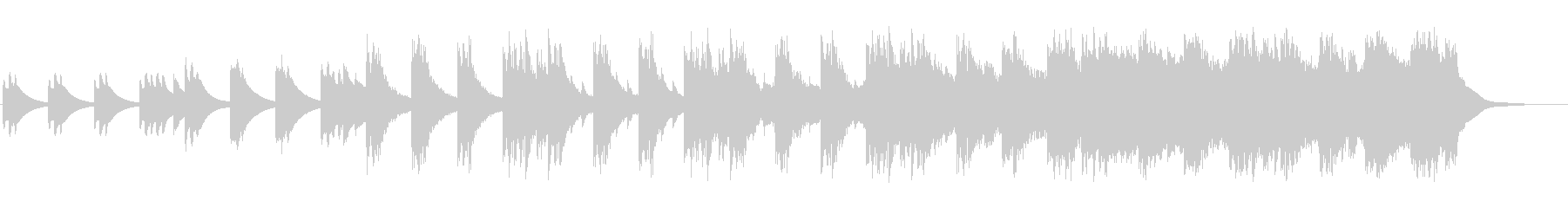 α波が出そうな音を寄せ集めたリラックス曲の未再生の波形