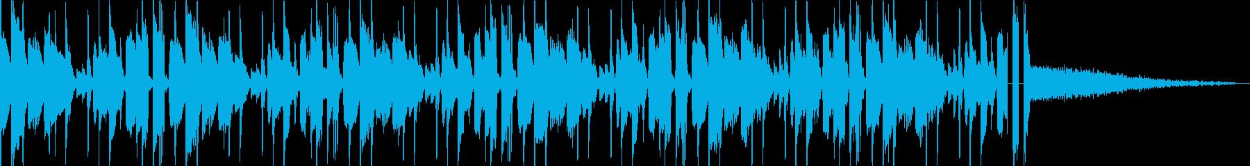 多用途な動画イン・アウトロ用ジングル3の再生済みの波形