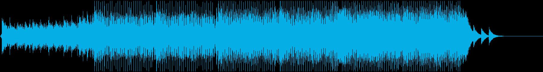 緊張、疾走感あるシーンを想定のBGMの再生済みの波形