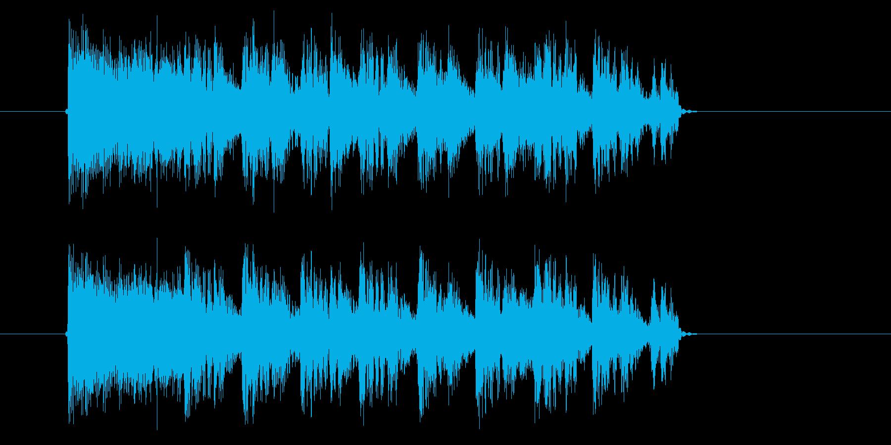 高速再生のテクノジングルの再生済みの波形