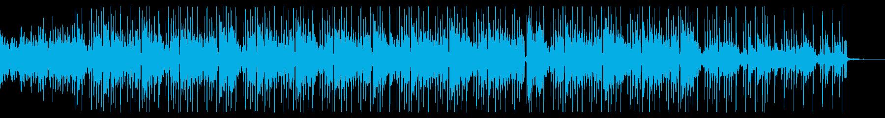 ゆったりと落ち着くLoFi系BGMの再生済みの波形