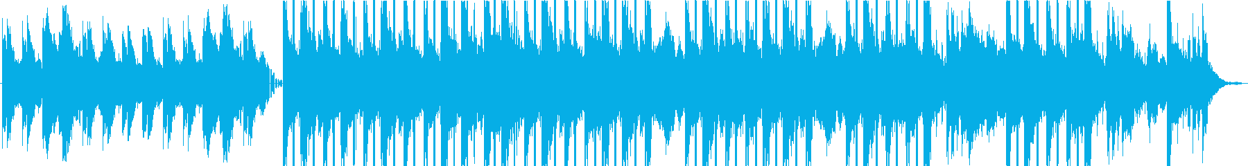 不思議な雰囲気のピアノのBGMの再生済みの波形