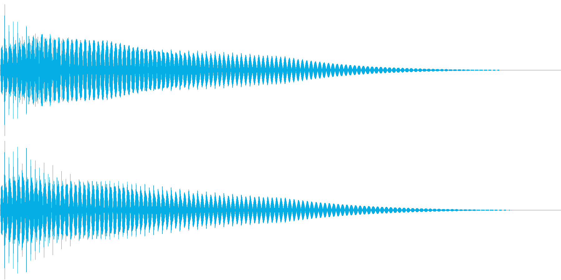 Bottom 重量感たっぷりな操作決定音の再生済みの波形