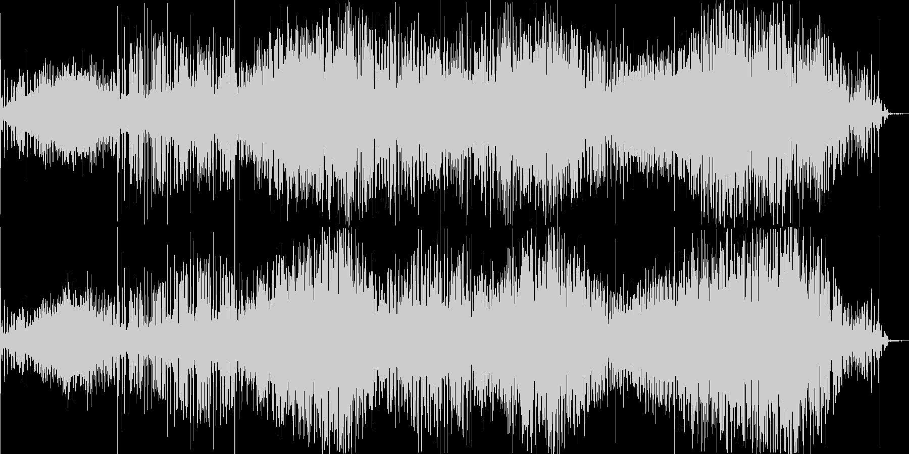 無機質なシグナルとノイズが生み出す緊張感の未再生の波形