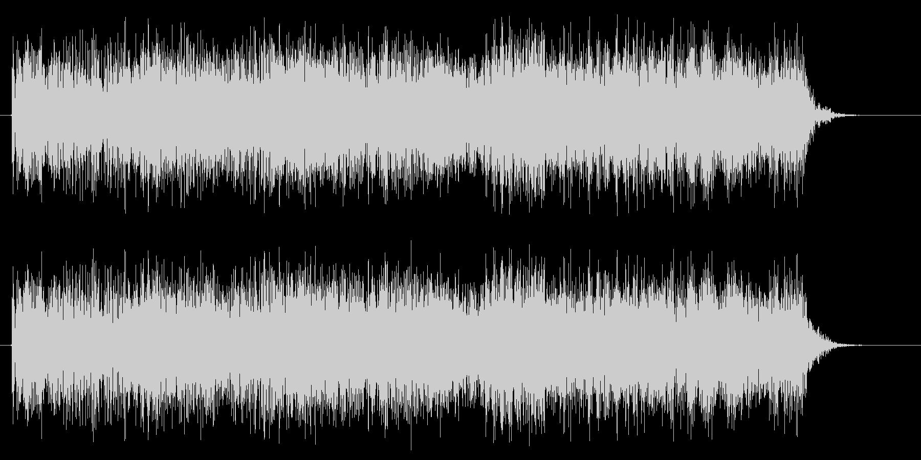 ヘヴィーメタル クールなキメのフレーズの未再生の波形