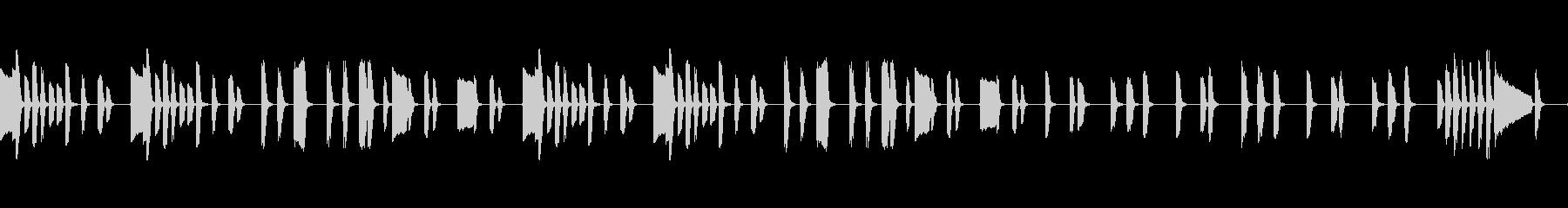 気の抜けたゆるいシュールなポップピアノの未再生の波形