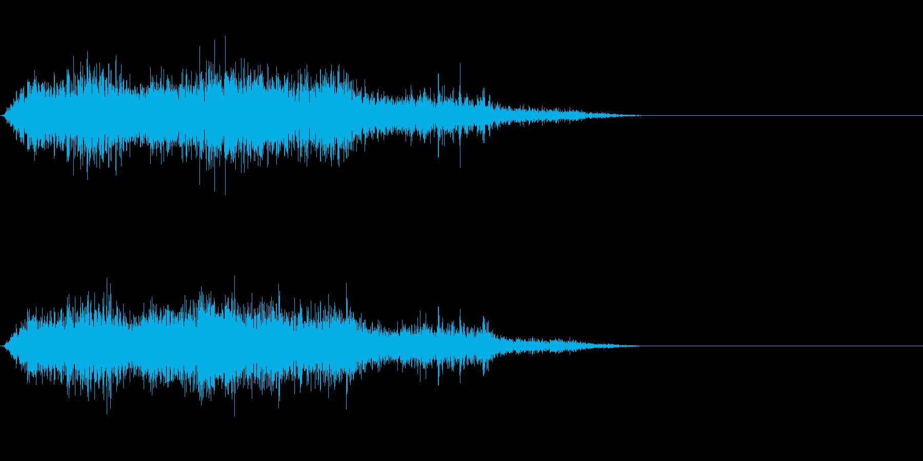 モンスター/獣/ゾンビ等の鳴き声!02Cの再生済みの波形
