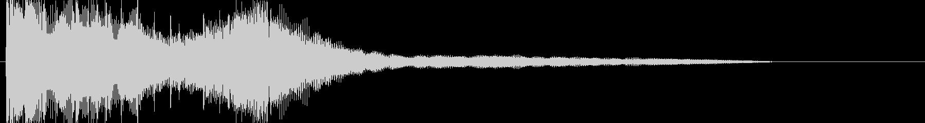 朝のラジオ 番組 爽やかなジングルの未再生の波形