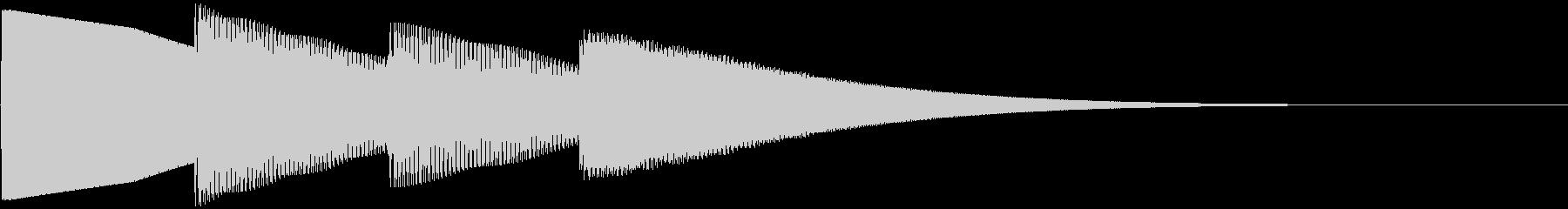 ピンポンパンポーン 上昇(柔い)お知らせの未再生の波形
