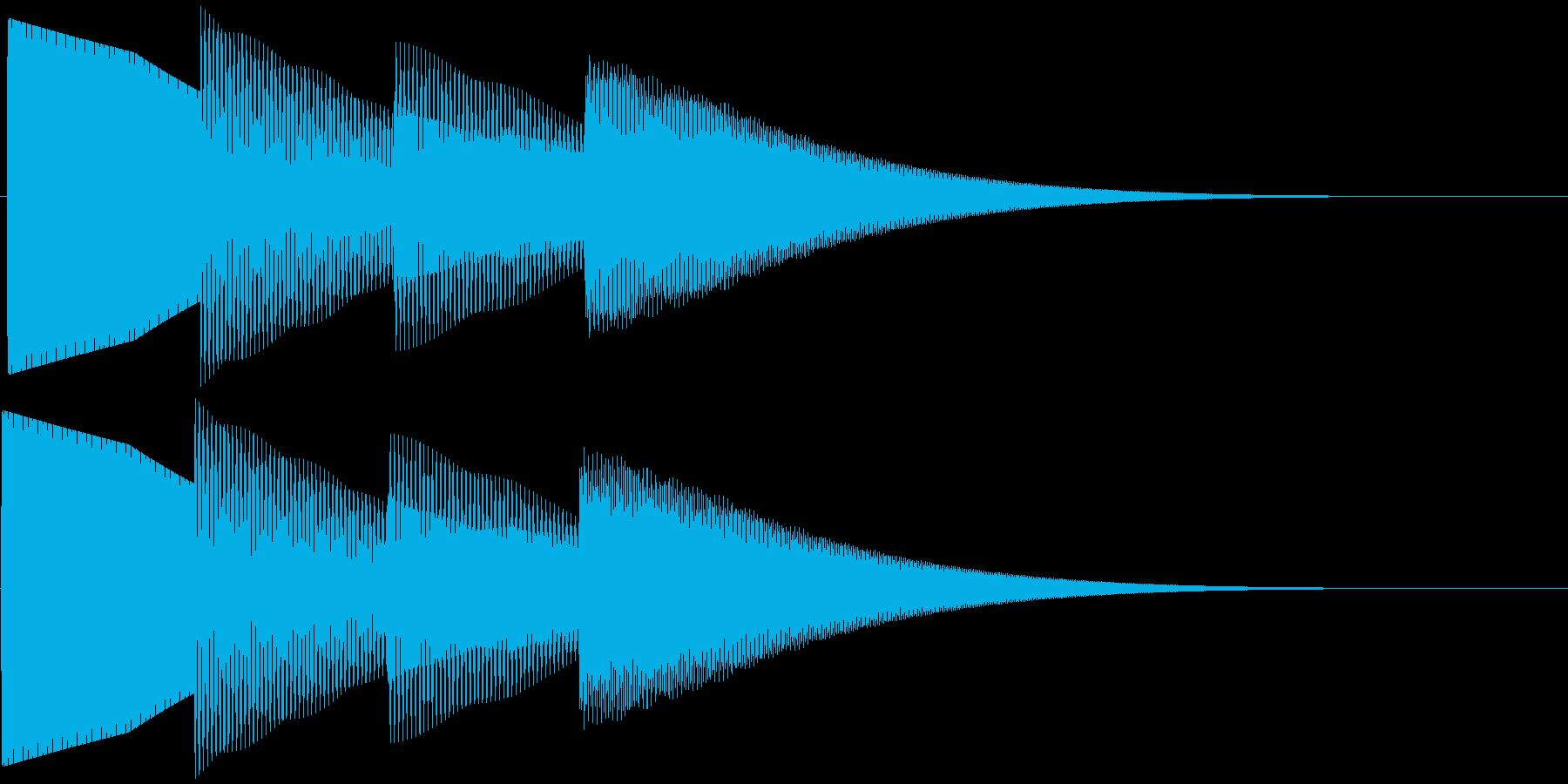 ピンポンパンポーン 上昇(柔い)お知らせの再生済みの波形