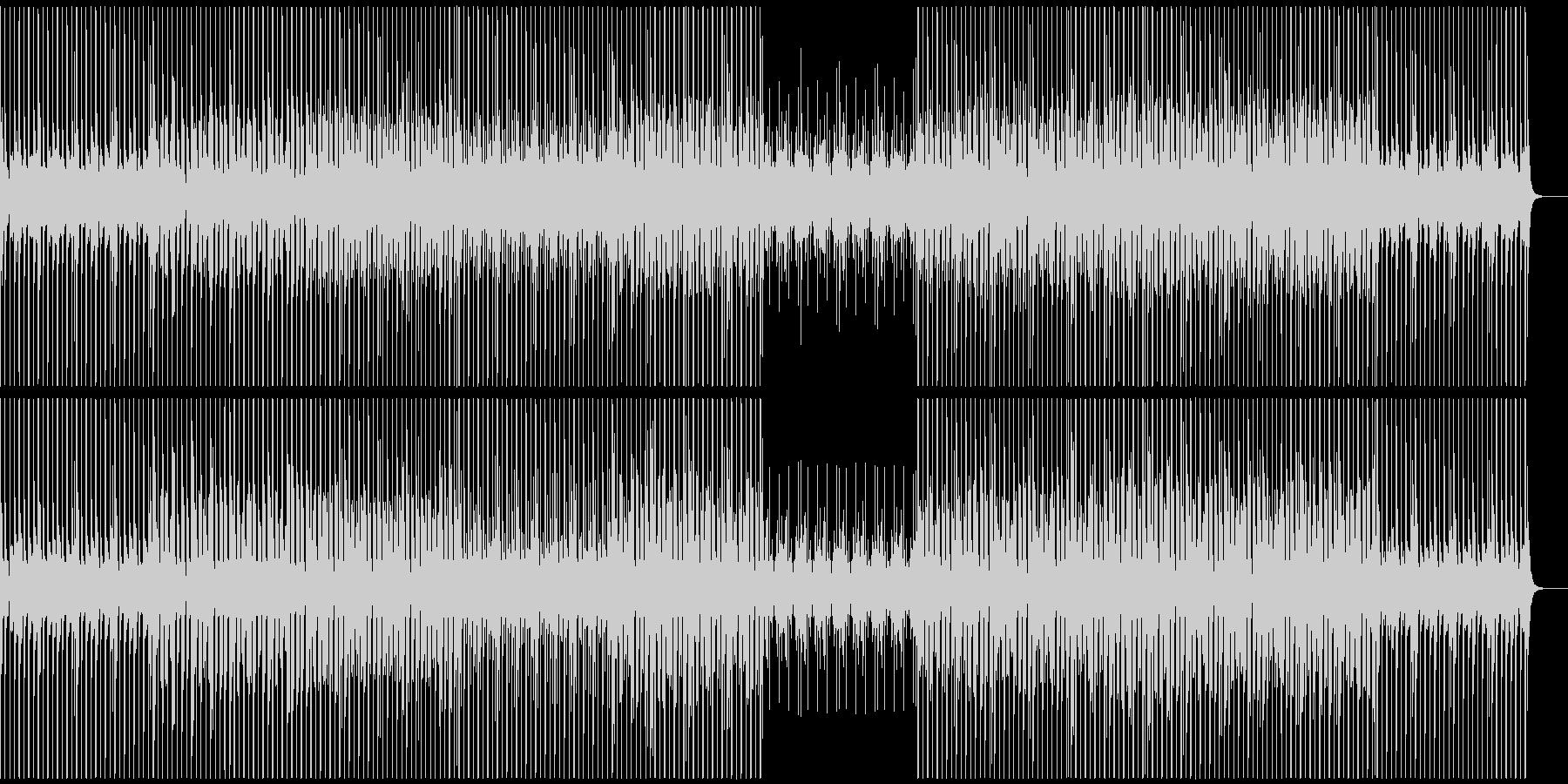 ハイテクなCMで使われそうなテクノの未再生の波形